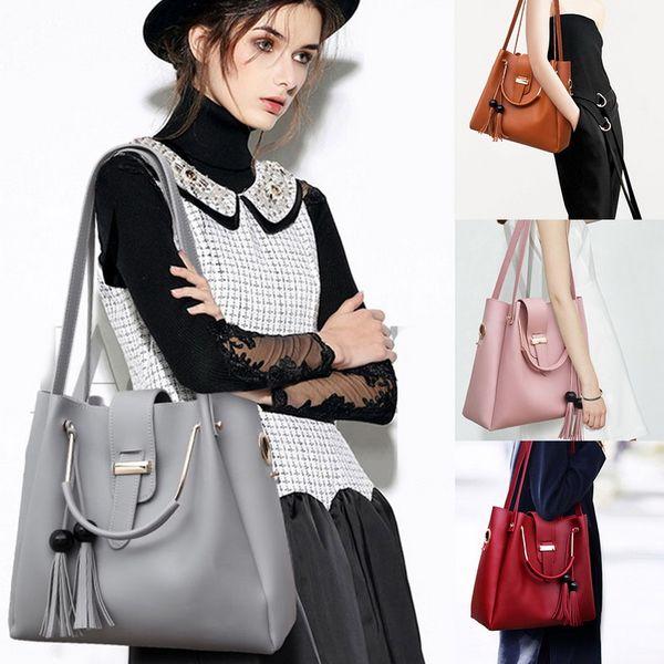 3pcs woman bag set fashion female purse and handbag four-piece shoulder bag tote messenger purse drop shipping (526186882) photo