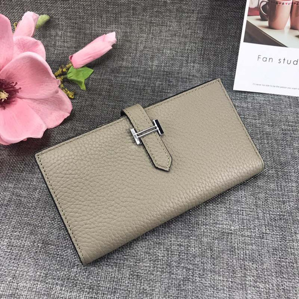 designer wallet h genuine leather long style purses bag women designer bags real leather designer wallets purses bags (483011727) photo