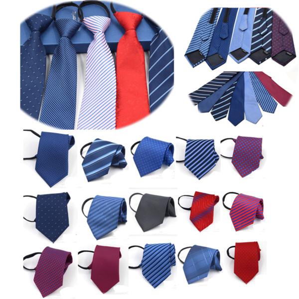 Мода 9 см галстук для мужчин и женщин тонкий узкий ленивый галстук легко тянуть веревку галстук корейский стиль Свадебная вечеринка Aniversary синий фото
