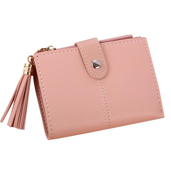 women mini wallets tassel zipper purse girl wallet pu leather small short wallet ka-best (466238264) photo