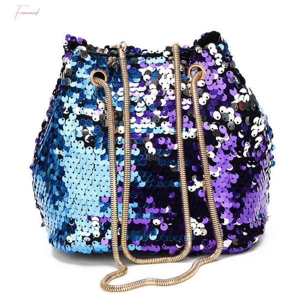 new fashion women bag large sequin handbag messenger shoulder hobo satchel crossbody bag tote purse (544648430) photo