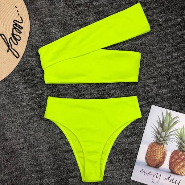 2019_neon_green_high_waist_bikini_women_ribbed_swimsuit_one_shoulder_swimwear_female_bikini_set_brazilian_bathing_suit_swim