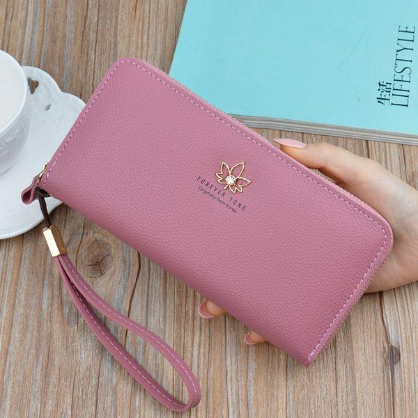 korean style women simple wallet delicate lady purse new design female clutch multicolor card holders fresh girl change purse (480256256) photo