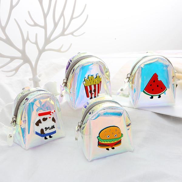 fashion laser fruit watermelon coin bag purses colorful simple mini girl boy change pouch storage money children wallets zipper (511485872) photo