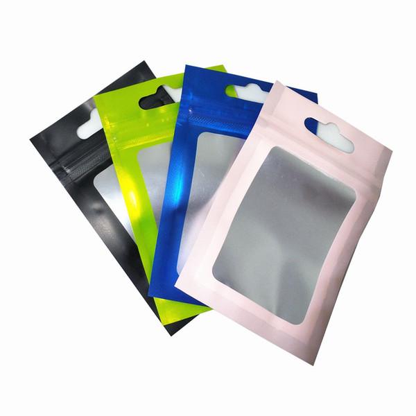 Матовое прозрачное пластиковое окно назад алюминиевая фольга молния замок пакет фото