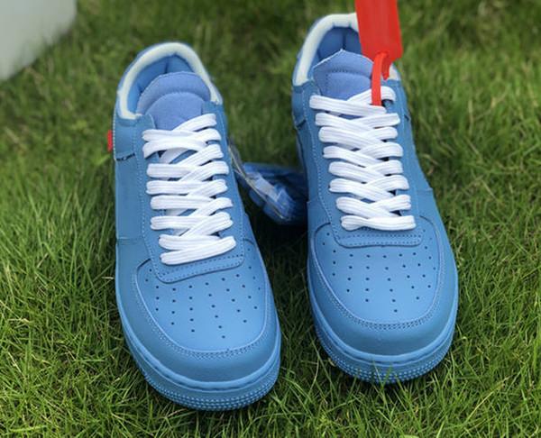 С коробкой Stock X One Offs MCA Синий Красный Metallic Silver Мужчины Повседневная обувь Volt 2,0 Низ фото