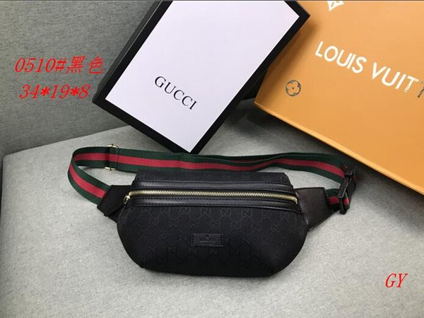 3A+ 2019 Fashion Hot Sale Men's and Women's Pockets Men's and Women's Designers High Quality Wallet Waist Bags Shoulder Bag Free Shipping 8