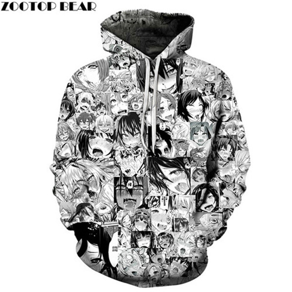 3D Printed Mens Pullover Sweatshirt Hoodies Fashion Mens Anime Characters Drop Ship Pullover Men Funny Hoodie