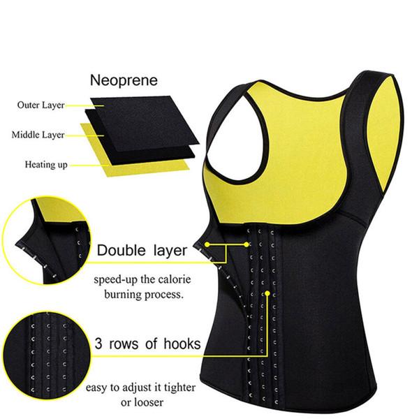 women waist trainer vest tank workout neoprene sauna slim sweat belt body building vest top