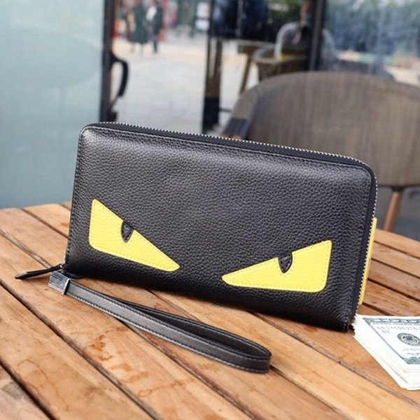 fashion mens designer wallet monster eyes designer luxury handbags purses youth personality eyes purses cartoon pattern designer coin purses (518491826) photo