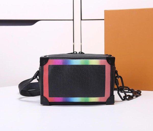 designer handbags luxury purse mini soft trunck l bag chain shoulder strap women box purse rainbow color purse (478383282) photo