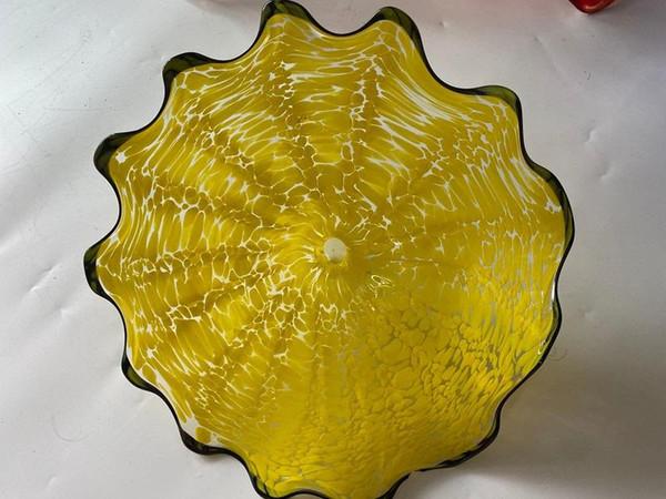 Handmade Свадебных Декоративные стекла Тарелка Сгорела стеклянные пластины для наст