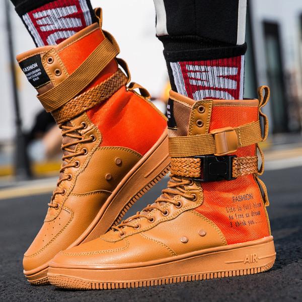 Конструктор Hip Hop джокер Мужская обувь Повседневная обувь Мужчины Тенис Sapato Heren Scho фото