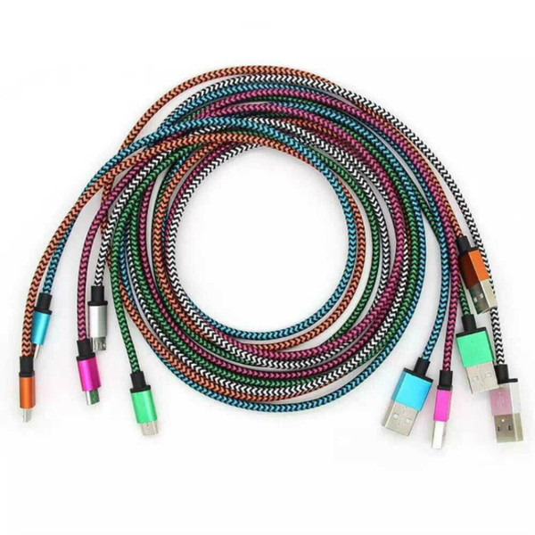1М 3FT 2М 6FT 3M 10FT Плетение зарядки Кабели ткани Плетеный провода синхронизации данны фото