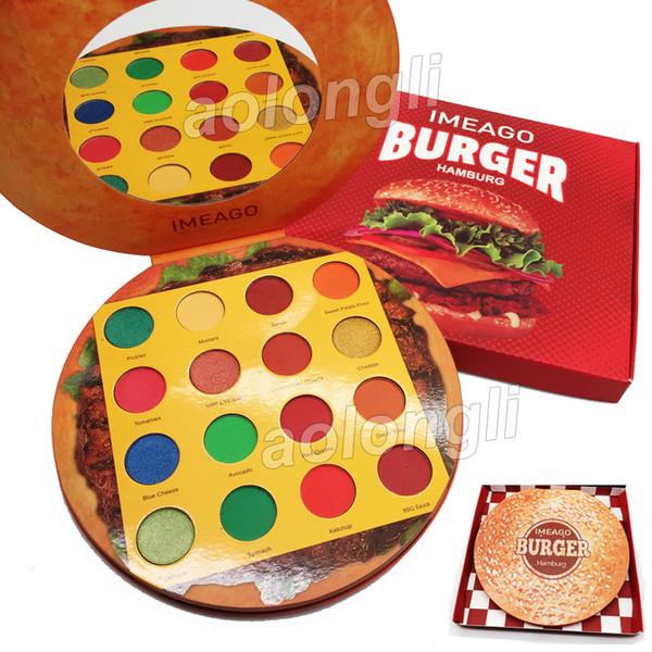 IMEAGO Burger Палитра теней для век 16 цветов макияжа Палитра теней для век hamburg Beauty 16 Вку фото