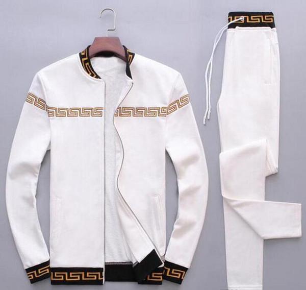 Мода спортивные костюмы мужчины досуг спортивный костюм роскошные мужская спортивная одежда Марка дизайн Бегун набор прохладный толстовка бесплатная доставка