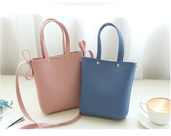 street fashion women girl pu leather candy color travel bags big space ladies manual measure purse tote messenger satchel bag (520152606) photo
