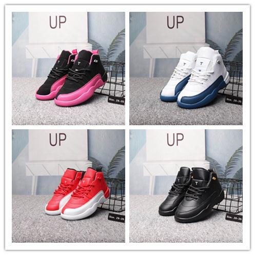 (box) Kids Shoes Wave Runner 12s West Running Shoes Boys Girls Trainer Sneaker Sport Children Athletic size28-35