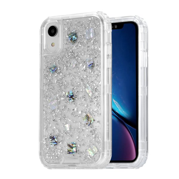 For iphone xr ca e luxury glitter phone ca e 3in1 heavy duty full body protection cover phone ca e for iphone x  max