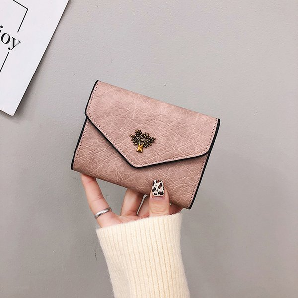 casual pu leather ladies wallets coin purse female short paragraph small wallet women purse for girl money coin bag (547989140) photo