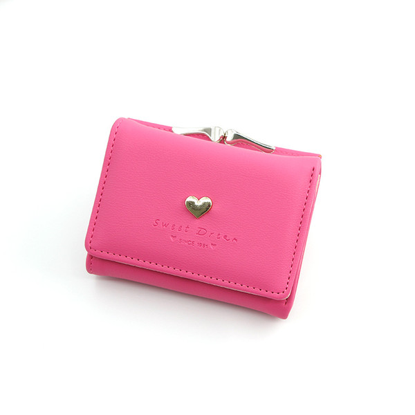 2020 new girl small wallet student coin purse korean version ladies short wallet three fold coin purse (542397723) photo