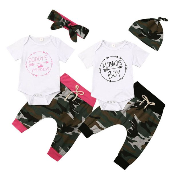 0-18m baby cotton clothes sister brother matching set newborn infant babies girl boy bodysuit pants hat outfit clothing set