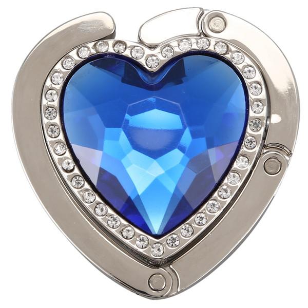 new heart-shape foldable purse handbag hanger hook holder (516893232) photo