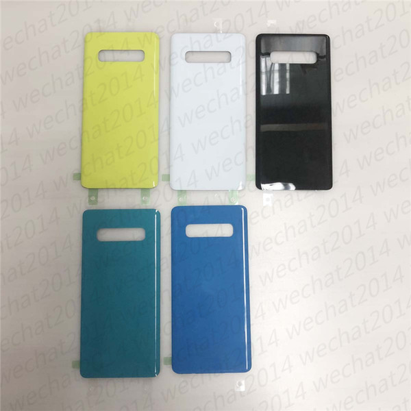 50pc  battery door back hou ing cover gla   cover for  am ung galaxy  10 plu  g973 g975 with adhe ive  ticker dhl