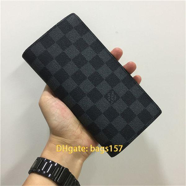 mens wallet designer card holder luxury purses zippy wallets mens designer long folded purses designer luxury handbags purses card 458 63-12 (527994012) photo