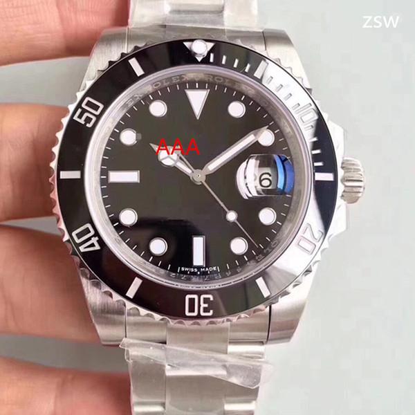 Top Version 316 Steel 40mm Green Dial Ceramic Bezel 116610 116610LN 116610LV ETA 3135 Movement Automatic Mens Watch Men's Watches