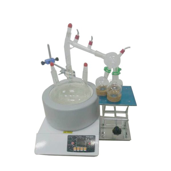 2l hort path di tillation y tem laboratory gla ware vacuum gla with intelligent magnetic tirring intelligent temperature control elect