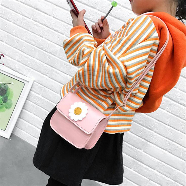 2019 baby girl flower messenger bag children coin purse handbag kawaii children fashion shoulder messenger bag sale (482419809) photo