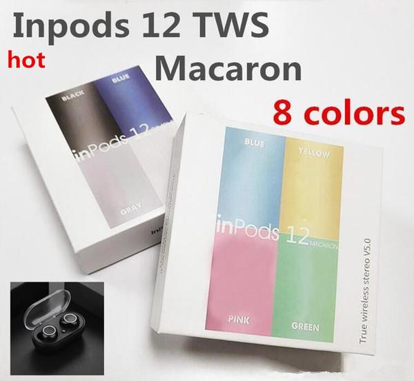 Беспроводные Bluetooth Наушники i12 TWS inpods 12 Macaron V5.0 стерео Сотовый телефон наушники Спо фото