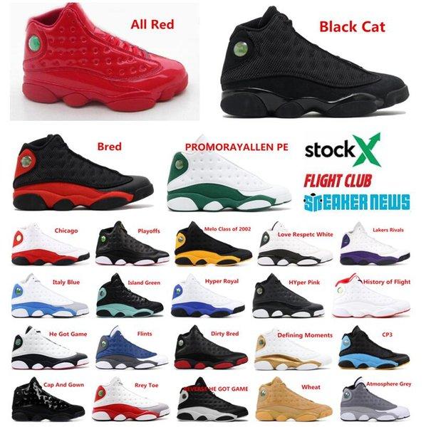 Дешевые 13 13С всячески препятствовать ОГ черную кошку баскетбол обувь мужская жен фото