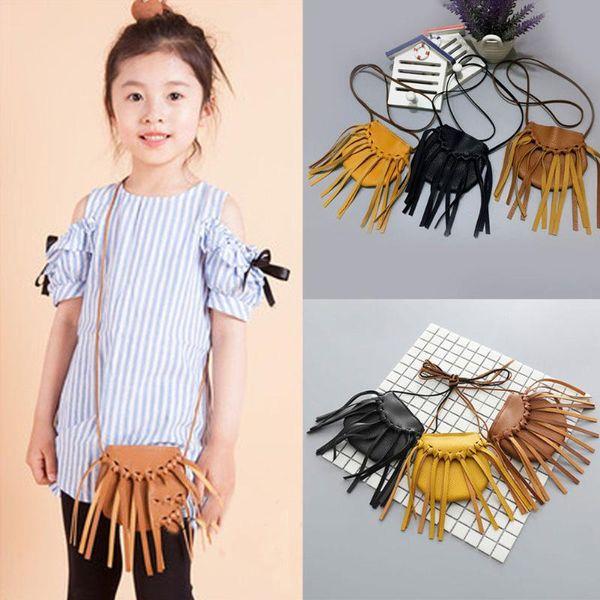 fashion infant kids baby girls tassel bag coin purses handmade handbags children purses 3 style (522075831) photo