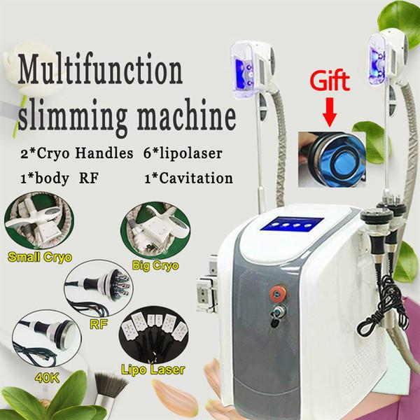 2018 Portable Slimming Machine Cool Sculpting Cryotherapy Cryo Lipolysis Ultrasound RF Liposuction Lipo Laser Machine Fat Freezing Machine