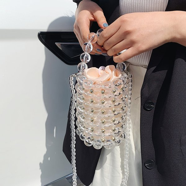 small beaded handmade vintage bucket bags for women 2020 summer handbags female shoulder crossbody travel clutch purses (541937132) photo