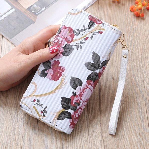 fashion 2020 new small zipper wallet girl wallets and purses floral women wallet 2019 pink exquisite outdoor (514216163) photo