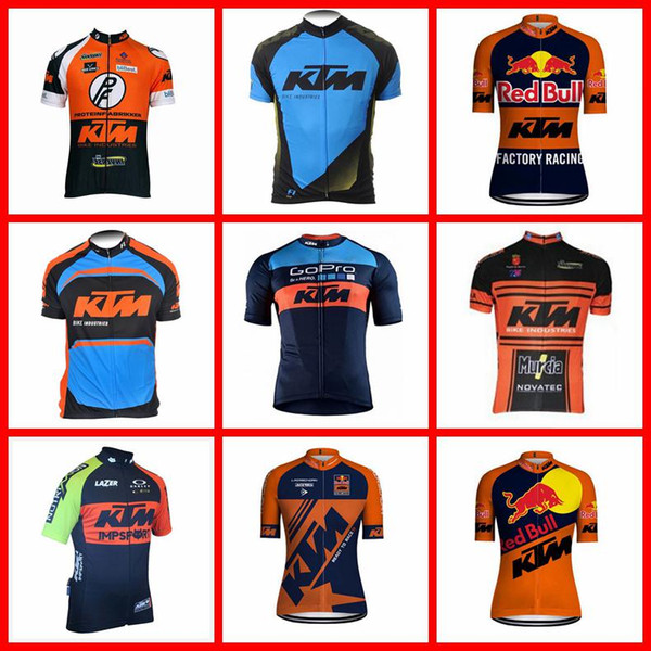 KTM team Cycling Short Sleeves jersey Brand New 100% Polyester Quick-Dry Cycle Clothes Mountain Bicycle Wear 2019 N040808