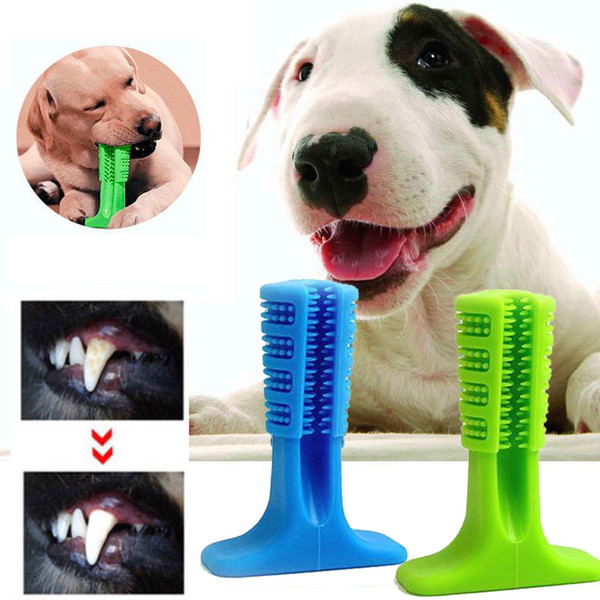 Dog toothbru h toy bru hing tick pet molar toothbru h for dog puppy tooth healthcare teeth cleaning chew toy bru h