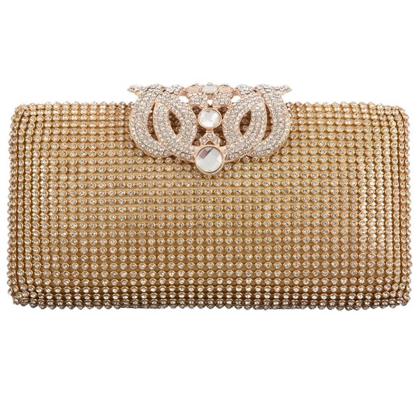 dazzling rhinestone encrusted evening bag clutch purse party bridal prom (525389943) photo
