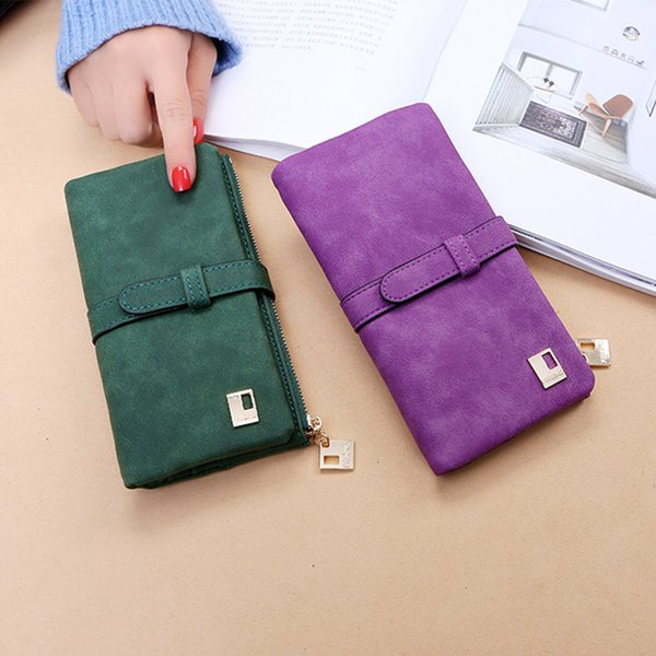 women long wallet frosted pu leather purse with zipper pocket long female wallet ka-best (466239960) photo