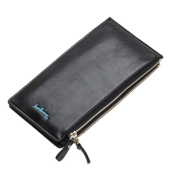 women's leather long wallet zipper purse coin phone organizer fashion candy colors handbag new thin wallet billfold purse (481018785) photo