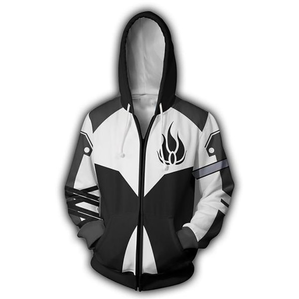 Мужчины RWBY Blake Belladonna 3D печати толстовки кофты повседневная куртка Аниме косплей к