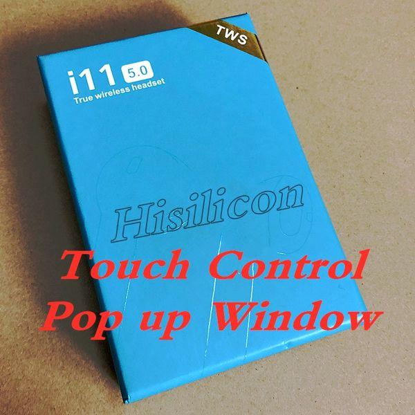 20 шт. I11 TWS беспроводные наушники Bluetooth V5.0 с всплывающим окном гарнитуры с сенсорны фото