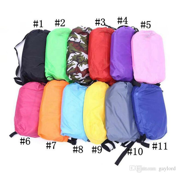 50pc new portable inflatable lounger bag air ofa leeping beach bed outdoor lazy bag thicker lounge leep bag