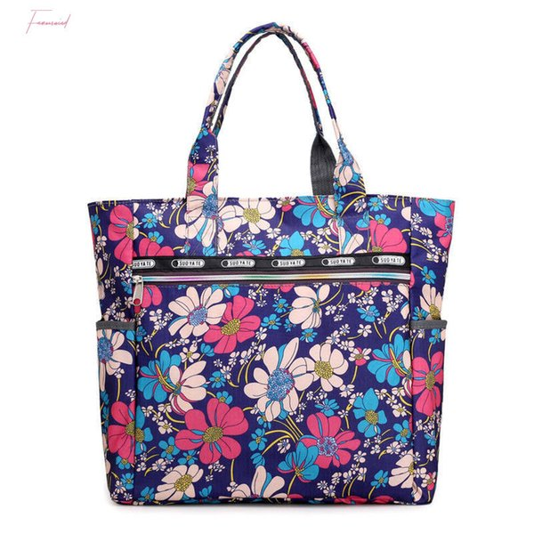 womens large floral printed handbag shoulder bags tote purse hobo satchel bag (543142018) photo