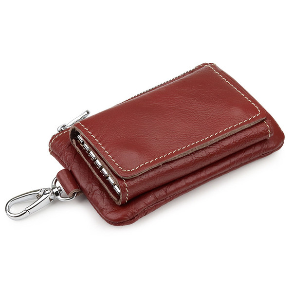 genuine leather key case first layer cowhide coin purse multi-function package simple card bag (553455464) photo