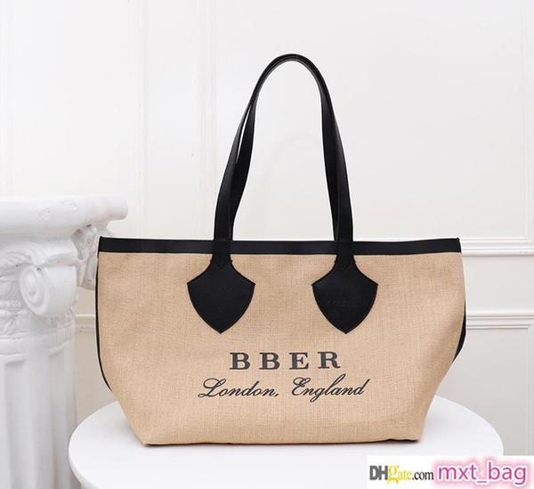 designer luxury handbag purse canvas material barbery fashion totes women designer bags luxury purse ladies handbag (511180225) photo