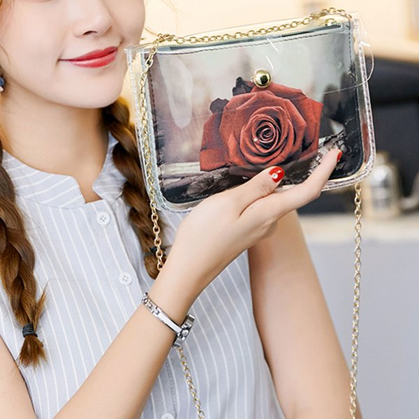 flower print women leather chain messenger bag mini cell cellphone pouch crossbody purse wallet girl small shoulder bag handbag (512338072) photo